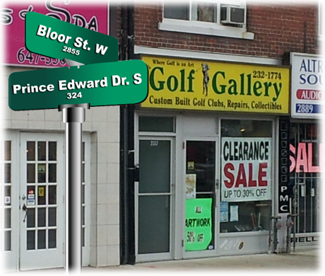 golf gallery bloor toronto