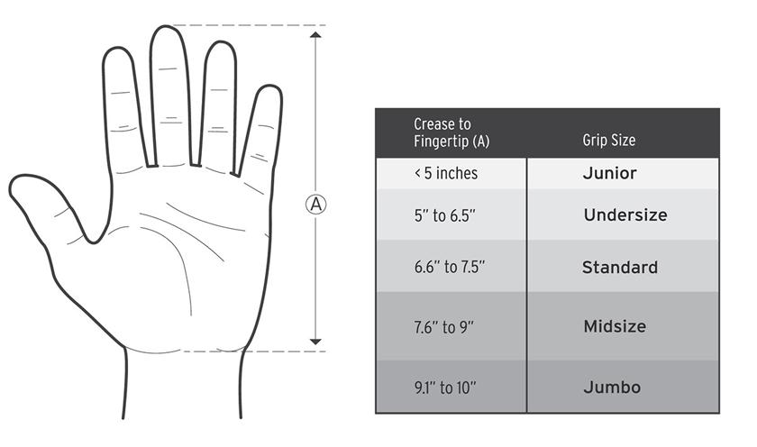 grip size chart
